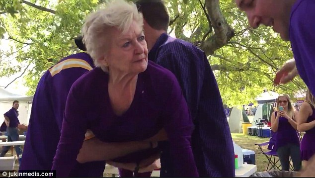 Party Animal Grandma Does Keg Stands