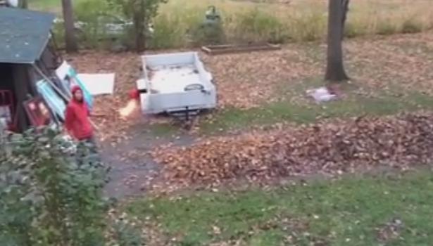 If you hate bagging your leaves, you could always try this...
