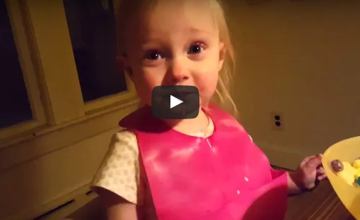 Little girl think her dad is lying when he tells her about snow