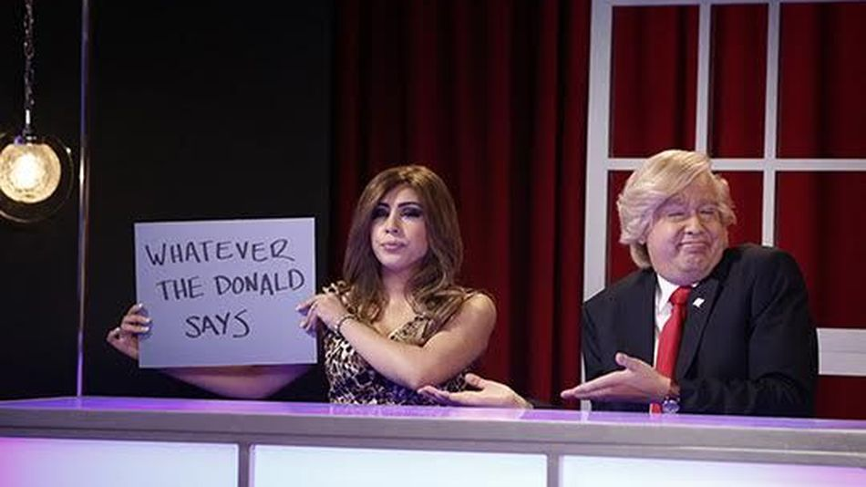 Donald and Melania Trump Play