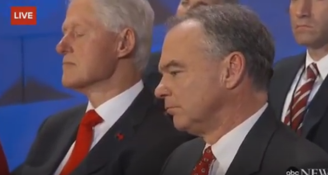 Did Bill Fall Asleep During Hillary
