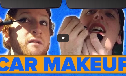 Dudes Put On Makeup In A Moving Car
