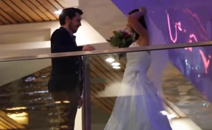 Woman Wears Wedding Dress on First Dates