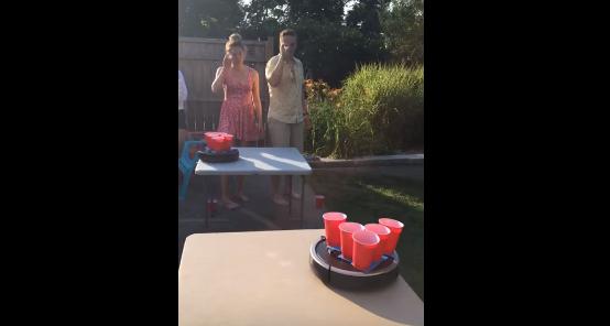 GENIUS!!! Roomba Pong