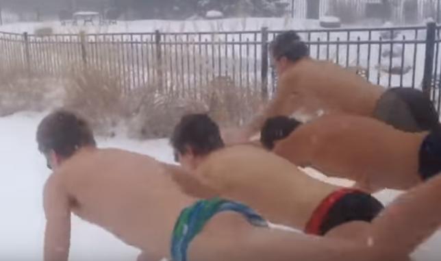 Snowmageddon Doesn't Mean Swim Practice Stops