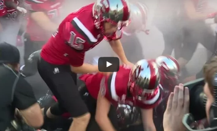 Western Kentucky Players Wiped Out While Running Onto The Field