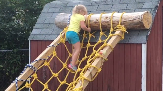 Dad Builds Daughter a Ninja Warrior Course to Help With Her Training